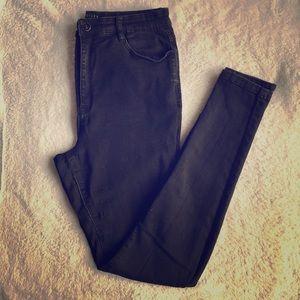 MG Mid Rise Hustler Skinny Jean Faded Black